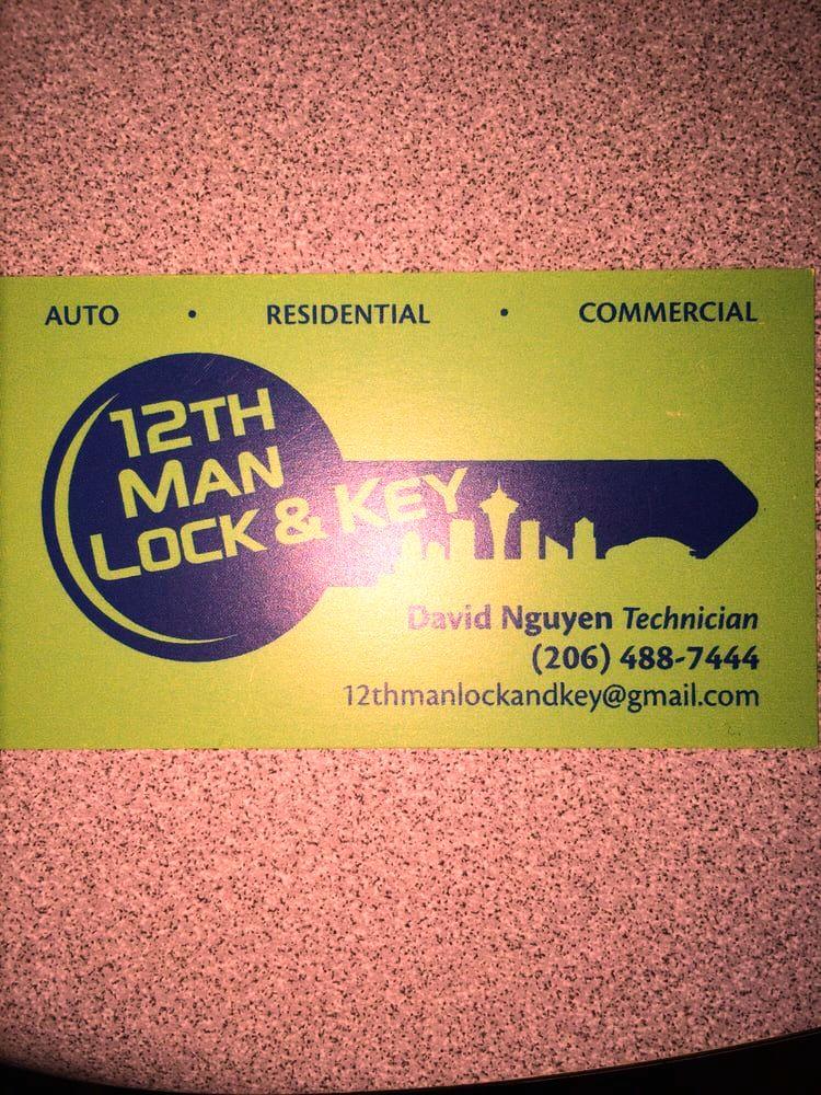 12th Man Lock Key