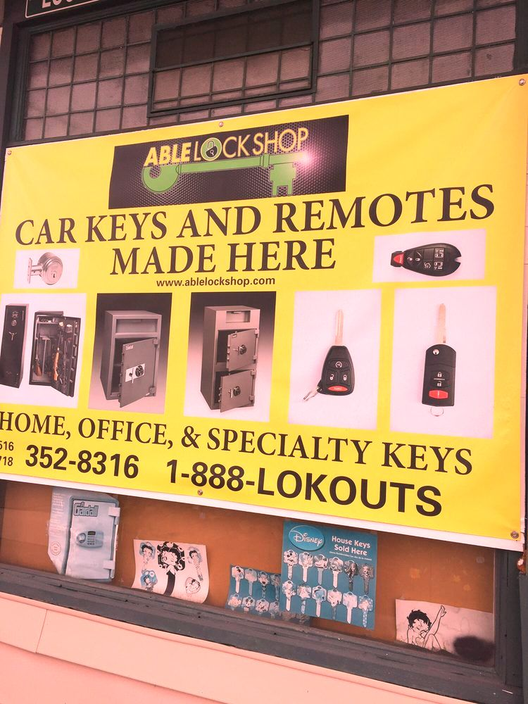 able lock shop safe locksmith services