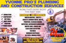 yvonne pro s plumbing and construction